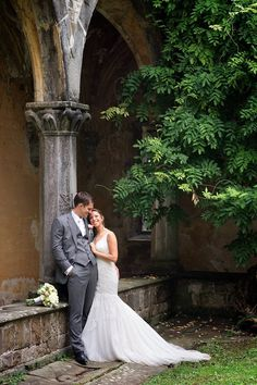 Magical Castle Wedding in Florence.  Photographers: Rossini Photography  | Bride's Dress: Watters Wtoo Noella from Morgan Davies | Groom's Suit:  Gresham Blake | #dress #couple #gown #castle