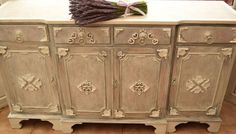 BEAUTIFUL LARGE SOLID PINE FARMHOUSE SIDEBOARD SHABBY CHIC LAURA ASHLEY
