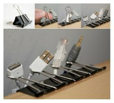 An inexpensive way to organize all your cords!