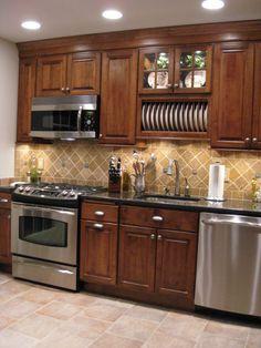 Simple Kitchen Design, Kitchen Room Design, Kitchen Layout, Home Decor Kitchen, Interior Design Kitchen, Home Kitchens, Kitchen Cupboard Designs, Kitchen Cabinet Styles, Kitchen Cabinets Decor
