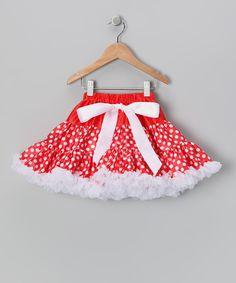 Loving this Red & White Polka Dot Pettiskirt - Infant, Toddler & Girls on #zulily! #zulilyfinds