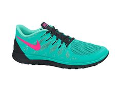 Nike Free 5.0 Women's Running Shoe | Size 7 Hyper Jade/Hyper Turquoise/Black/Hyper Pink