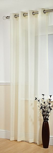 Boston Champagne Voile Panels    Boston is a competitively priced, eyelet-headed, textured voile panel. Priced and sold as single panels.