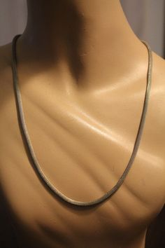 8a1b80778583 1980s Snake Chain Necklace Vintage