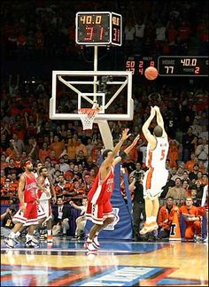 Deron Williams' shot that tied it up in the 2005 game vs. Arizona. I want a big print of this framed in our bar/rec room.