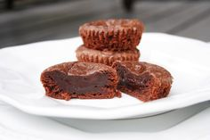 THREE Ingredients!!! That's it. So quick and EASY.  Nutella Brownie Bites!