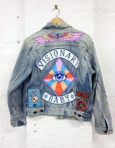 Denim Jacket embroidery patch Embellished