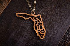 Wood Gators Mascot Necklace #florida #gators #SEC #football