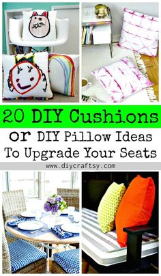 20 DIY Cushions or DIY Pillow Ideas To Upgrade Your Seating - DIY & Crafts