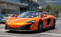 Epic colour for a 650S Spider especially during a Cape Town summers day |  via @exoticsofsa | #ExoticSpotSA #Zero2Turbo #SouthAfrica #McLaren #650SSpider