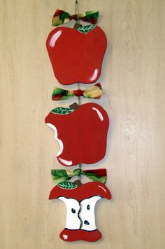 apple kitchen decor | Apple Tier Swag3 tiers Uneaten apple, bite out of apple, and apple ...