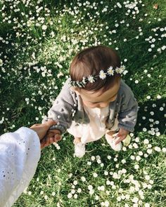 flower crown and a little beauty