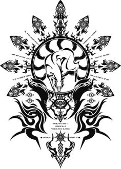 Hakumen's emblem would make for an awesome tattoo.