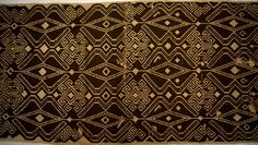 NOTE ON MATHS & ART - WOVENSOULS.ORG Antique Dayak Pua with Mirror image on reverse