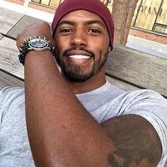 Hot Black Guys, Fine Black Men, Gorgeous Black Men, Cute Black Boys, Handsome Black Men, Fine Men, Beautiful Men, Black Man, Black Men Beards