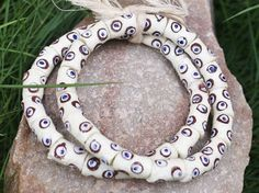 African Glass Beads Recycled Beads Krobo Beads by AfrowearHouse #africanbeads #ethnicbeads #krobobeads #fairtrade
