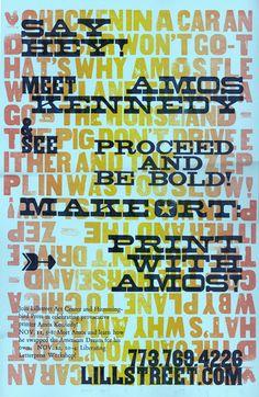 Amos Kennedy letterpress