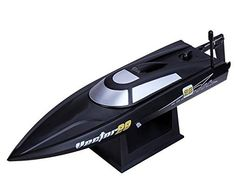 POCO-DIVO-24Ghz-Vector28-Pool-Racer-RC-20mph-High-Speed-Boat-Radio-Control-Mini-Racing-Yacht-Black