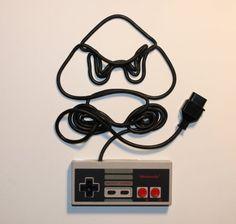 Nintendo Controller & Cord Art