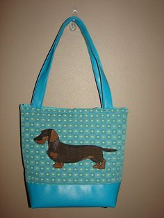 Wild Boar colored wirehaired Dachshund Tote Bag by StitchedByShawn, $65.00