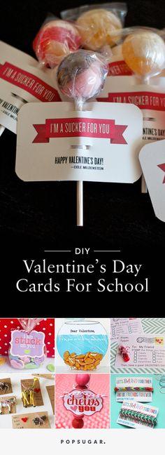 DIY Printable School Valentine's Day Cards For Kids   POPSUGAR Moms