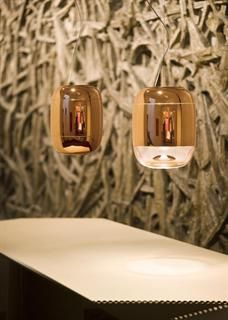 The beautiful new GONG Metalized Suspension Light in copper by Prandina Canning & Sheridan Interiors - Designer Furniture & Lighting Retailer