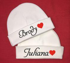 Personalized baby hats w  heart - micro preemie 6837c9ecb077