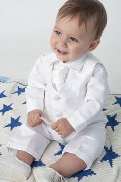7767f22de3 Baby Boys 4 Piece Christening Outfit   Christening Suit Blue White Check.  Vestido De Batismo Para BebêRoupa De Batismo MeninoBatismo ...