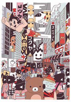 Tokyo poster on Behance