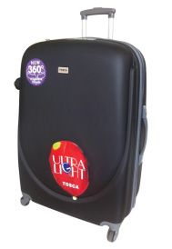 Tosca Orbit ABS Trolley Cases Super Lightweight, ABS construction, Fully Lined, 4 wheel Spinner, Push Button Handle, Zip Locking Sliders Buy securely online at www.luggageladies... Orders delivered in 3-4 working days. Available in Black, Purple, or Emerald Sliders, Lady, Suitcase, Emerald, Handle, Cases, Construction, Zip, Button