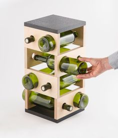 love this... geometric wine rack by DesignedForEverydays
