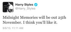 midnight memories..... *tear*<<<< we will Take this Home and stay Up All Night making Midnight Memories