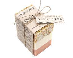 Organic Sensitive Skin Soaps. Handmade Vegan Soap Set.100 % Natural Soap Gift Set.. $20.00, via Etsy.