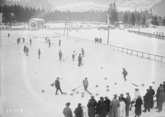 Chamonix, (Jeux olympiques d'hiver) 27-01-1924, emplacement du curling | Photographie de presse : Agence Rol