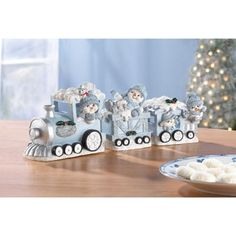 Snow Buddies Train Set from KoehlerHomeDecor.com.  Trains and Christmas go together and the Snowbuddies Express is no exception!  Buy wholesale at Koehler Home Décor.
