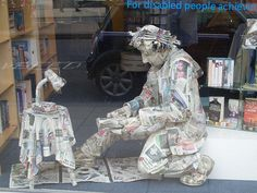 Orson is a papier-mâché artwork created by Gary Caruthers for the Scope Charity shop.