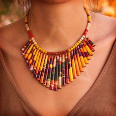 ZezeCraft&Design Ethnic Collection Necklace 05 (ZCDECN05) #recycle #necklace…