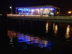 Cardiff Bay at night reflections on the water www.callofthewild.co.uk