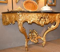 Large #console #LouisXV in #giltwood. 18th century. For sale on #Proantic by Antiquités Carles 2 Bergada.