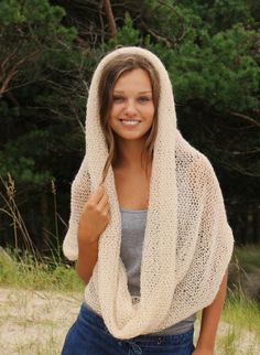 Soft fluffy cowl in vanilla cream color by iveta67 on Etsy