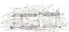 Architecture: Section Drawing Detail Of Kindergarten. Design For Children, Maximize Roof Design, Functional Roof Design, Kindergarten Building Design, Tezuka Architect | Modern Architecture Building Design