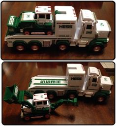 Thanksgiving tradition for grandsons -- gift of Hess trucks after Macy's parade