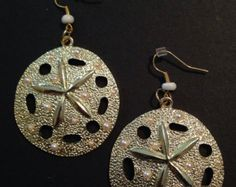 Sand Dollar Earrings by TennesseePewter on Etsy
