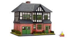 1940s OAKLAND HOUSE 48th Scale KIT The OAKLAND residence is based on the typical suburban residences of the 1940's with trademarks of the stockbroker tudor design. This 2 storey detached house kit would be ideal for a miniature family consisting of entry hall, living room, rear Oakland House, Retro Caravan, English Country Style, Entry Hall, Miniature Houses, Kit Homes, Detached House, Gazebo, Miniatures