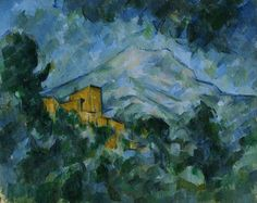 "Mont Sainte-Victoire and Château Noir"" (c.1904 - 1906) By Paul Cézanne, from Aix-en-Provence, Provence, France (1839 - 1906) - oil on canvas; 82.1 x 66.2 cm -"