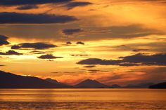 Sunset on an Alaskan cruise