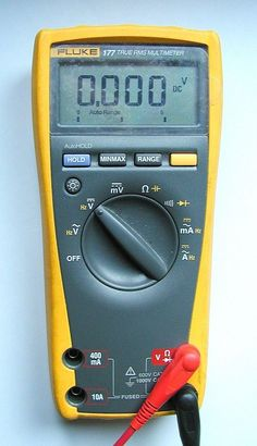 How to use a multimeter. A multimeter or DMM is a useful instrument in a home toolkit for measuring voltage, current and resistance and also for tracing breaks in wires, testing components and fuses.Got mine. Home Electrical Wiring, Electrical Projects, Electrical Engineering, Ac Wiring, Electrical Safety, Electrical Outlets, Diy Electronics, Electronics Projects, Radio Amateur