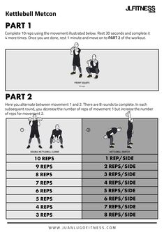 25 Kettlebell Total Body Conditioning Workouts Kettlebell Routines, Hiit Workouts For Men, Kettlebell Training, Gym Workout Tips, No Equipment Workout, At Home Workouts, Amrap Workout, Strength And Conditioning Workouts, Body Weight Training