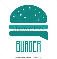 Turquoise Burger Vector Icon