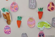 Chelsea Gon Blog: Happy Easter! -toddler crafts-  Toddler diy handmade craft crafting arts and crafts easy ideas projects for kids